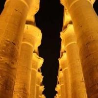 Luxor Columns at Night