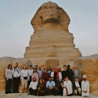 Group in Paws of the Sphinx