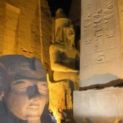 Luxor Entry Way, Ramses Statue