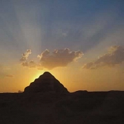 Saqqara Pyramid at Sunset
