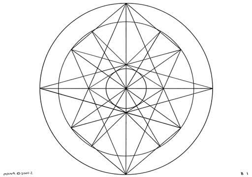 B1 Sacred Form Series B–Ascending Light Body Black on White