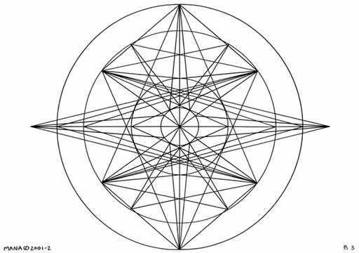 B3 Sacred Form Series B–Ascending Light Body Black on White