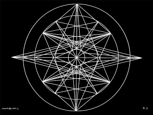 B3 Sacred Form Series B White on Black