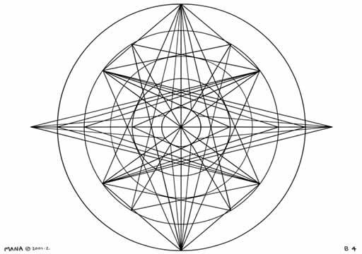 B4 Sacred Form Series B–Ascending Light Body Black on White