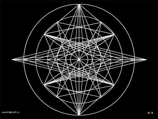 B5 Sacred Form Series B–Ascending Light Body White on Black