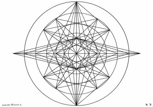 B7 Sacred Form Series B–Ascending Light Body Black on White