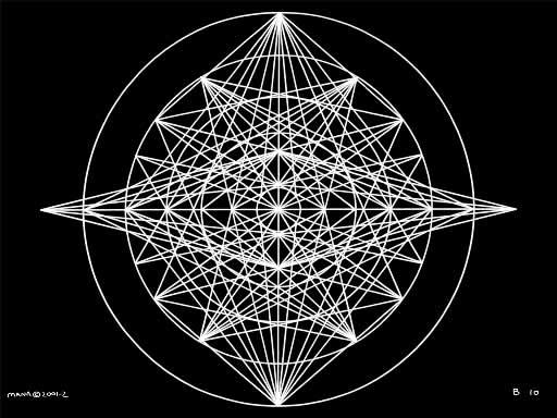 B10 Sacred Form Series B–Ascending Light Body White on Black