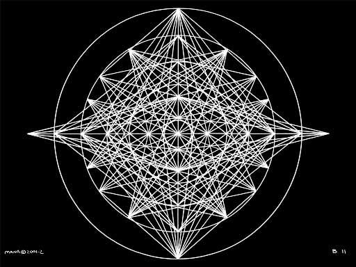 B11 Sacred Form Series B–Ascending Light Body White on Black