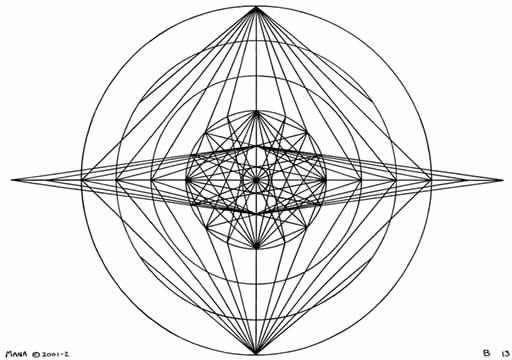 B13 Sacred Form Series B–Ascending Light Body Black on White