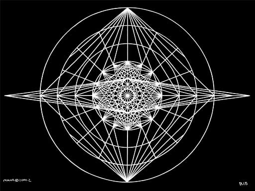 B15 Sacred Form Series B–Ascending Light Body White on Black
