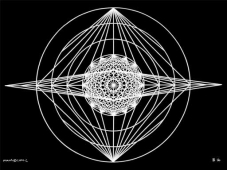 B16 Sacred Form Series B–Ascending Light Body White on Black