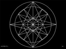 B1 Sacred Form Series B–Ascending Light Body White on Black