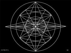 B2 Sacred Form Series B–Ascending Light Body White on Black
