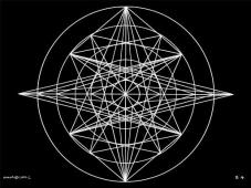 B4 Sacred Form Series B–Ascending Light Body White on Black