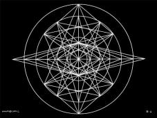 B6 Sacred Form Series B–Ascending Light Body White on Black