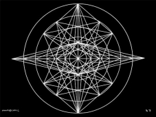 B7 Sacred Form Series B–Ascending Light Body White on Black