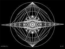 B14 Sacred Form Series B–Ascending Light Body White on Black