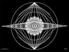 B16 Sacred Form Series B–Ascending Light Body White on Black