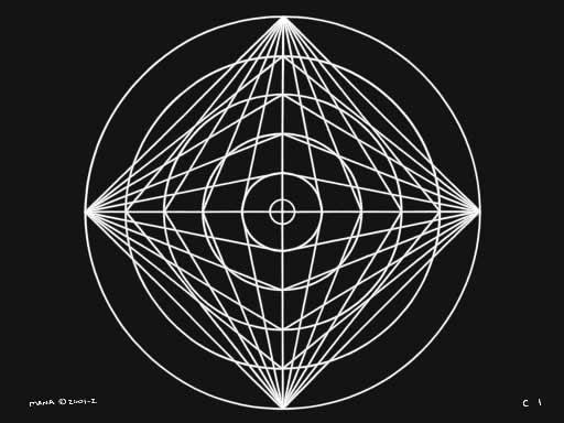 C1 Sacred Forms Series C–Cosmic Heart White on Black