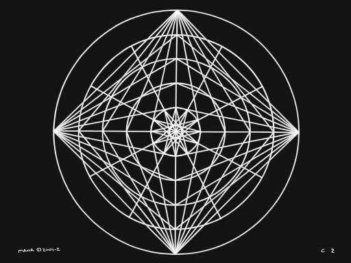 C2 Sacred Forms Series C–Cosmic Heart White on Black