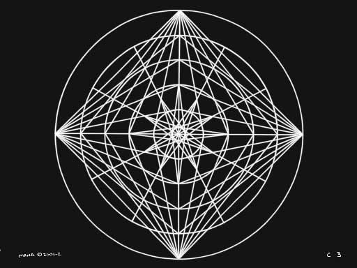 C3 Sacred Forms Series C–Cosmic Heart White on Black
