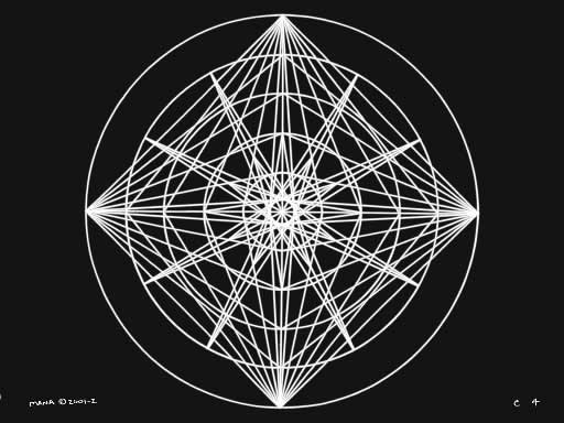 C4 Sacred Forms Series C–Cosmic Heart White on Black