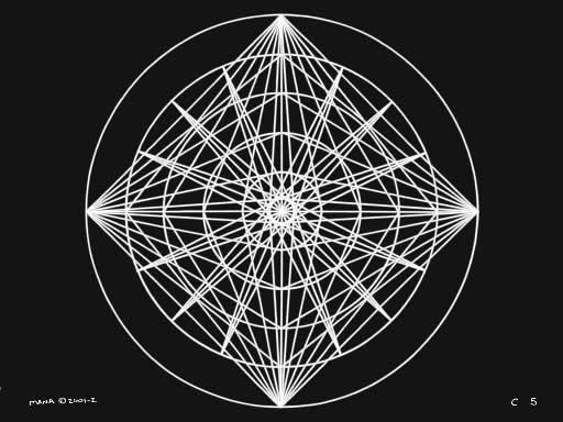 C5 Sacred Forms Series C–Cosmic Heart White on Black
