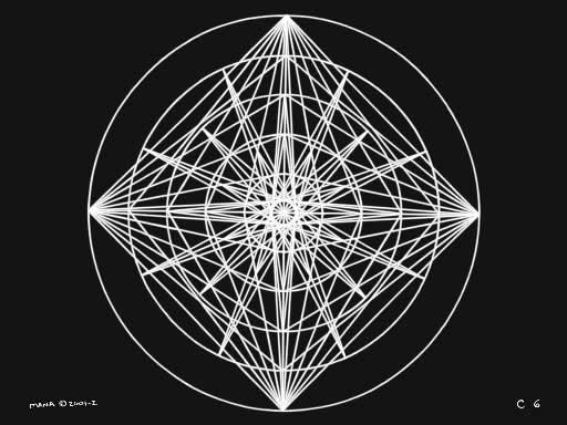 C6 Sacred Forms Series C–Cosmic Heart White on Black