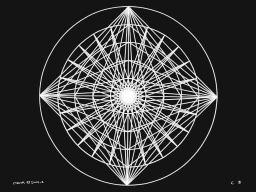 C8 Sacred Forms Series C–Cosmic Heart White on Black