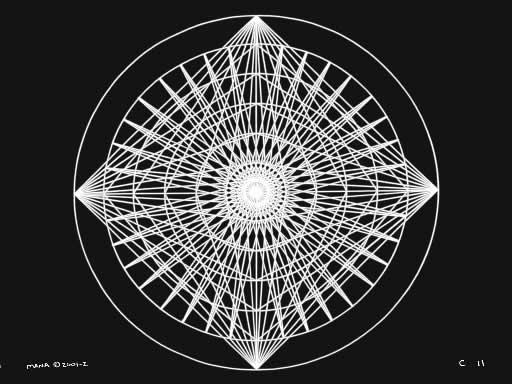 C11 Sacred Forms Series C–Cosmic Heart White on Black