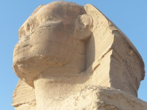The Sphinix head in profile