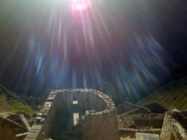 Sacred journey Peru solstice light rays