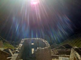Sacred journey Peru solstice light rays