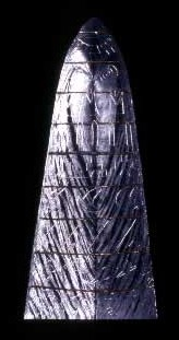 Glass Sculpture with narrow triangle shape