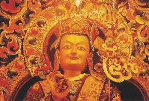 Padmasambhava in red and gold