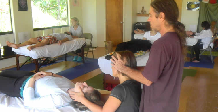 Breath of Light training   hands on healing session